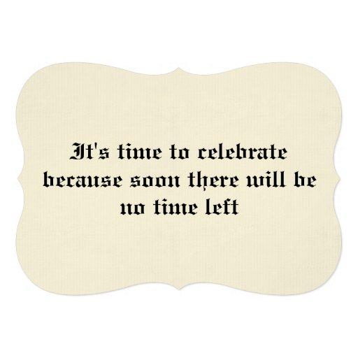 40.a invitación de la fiesta de cumpleaños de la o
