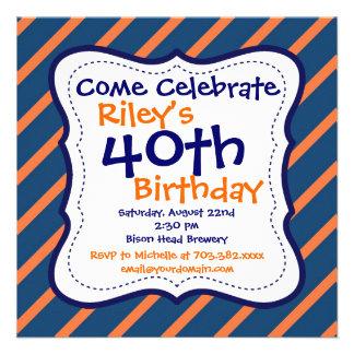 40 a invitación de la fiesta de cumpleaños de las