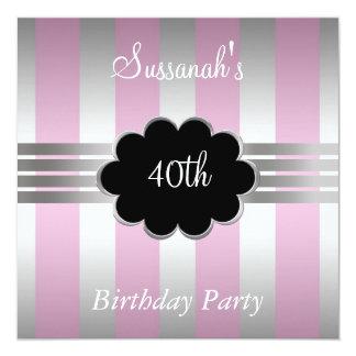 40.a invitación de la fiesta de cumpleaños de Pimk