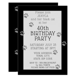 40.a invitación de la fiesta de cumpleaños del