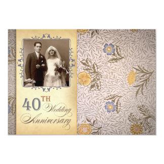 40.a invitación del aniversario