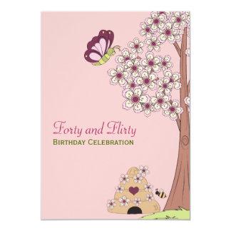 40.a invitación del cumpleaños de las flores de