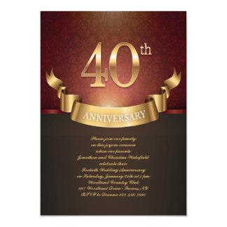 40.a invitación elegante del aniversario de boda