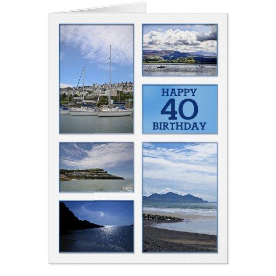 40.a tarjeta de cumpleaños de los paisajes marinos