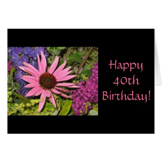 40.a tarjeta de cumpleaños feliz