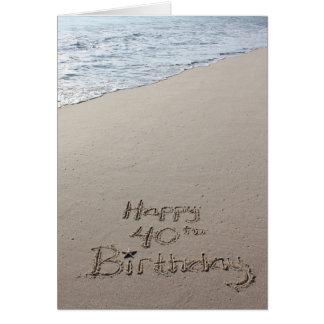 40.a tarjeta de cumpleaños feliz en el océano de