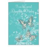 40.a tarjeta de las mariposas del cumpleaños de la