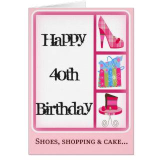 40.a tarjeta del cumpleaños de la diva para las