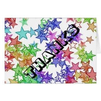 40 algo StarBurst le agradecen tarjeta de nota