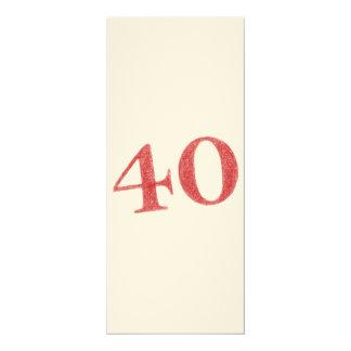 40 años de aniversario invitación 10,1 x 23,5 cm