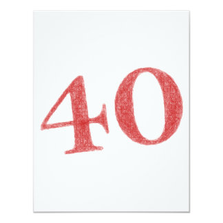 40 años de aniversario invitación 10,8 x 13,9 cm