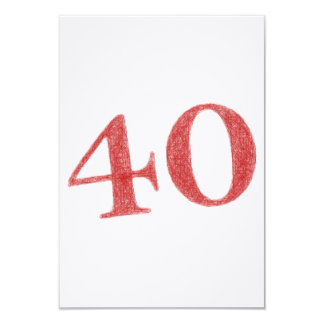 40 años de aniversario invitación 8,9 x 12,7 cm
