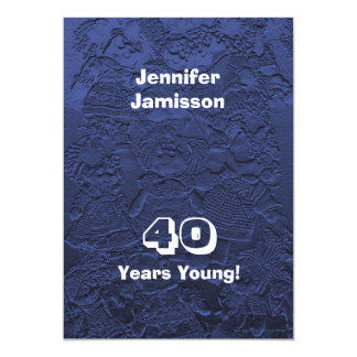 40 años de cumpleaños de la fiesta de invitaciones invitación 12,7 x 17,8 cm