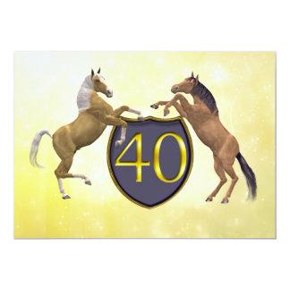 40 años de la fiesta de cumpleaños que alza invitación 12,7 x 17,8 cm