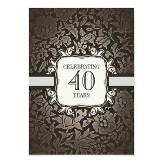 40 años que casan invitaciones de la fiesta de invitación 12,7 x 17,8 cm