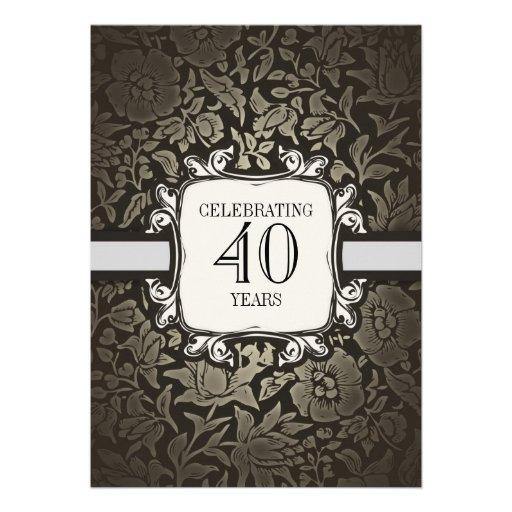 40 años que casan invitaciones de la fiesta de ani invitación