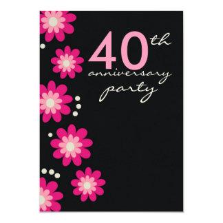 40.as invitaciones de la fiesta de aniversario del invitación 12,7 x 17,8 cm