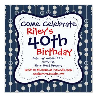 40.as invitaciones de la fiesta de cumpleaños de invitación 13,3 cm x 13,3cm