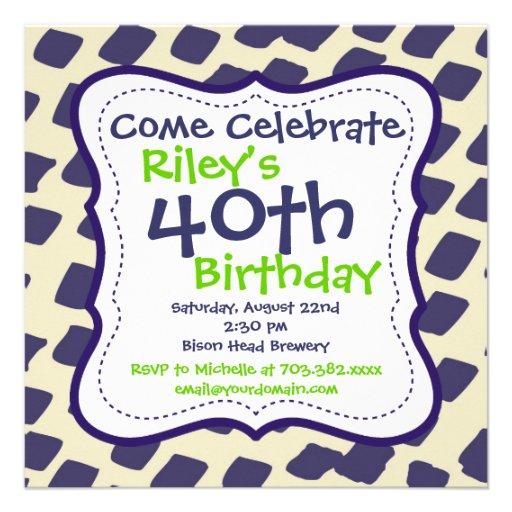 40.as invitaciones de la fiesta de cumpleaños de l comunicado personal