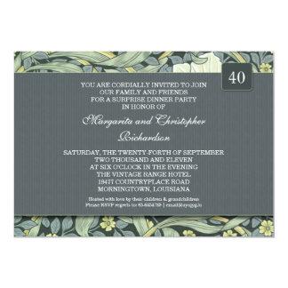 40.as invitaciones del aniversario de boda comunicado personalizado