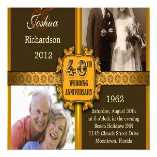 40.as invitaciones del aniversario de boda con las invitacion personalizada