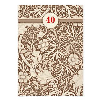 40.as invitaciones del aniversario de boda invitación 12,7 x 17,8 cm