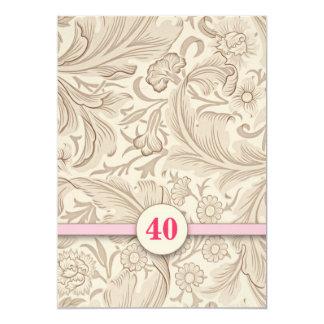 40.as invitaciones del rosa del vintage del invitación 12,7 x 17,8 cm