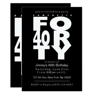 40.as invitaciones fantásticas del cumpleaños