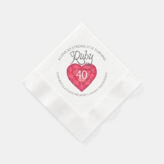 40.as servilletas del arte del corazón del servilletas desechables
