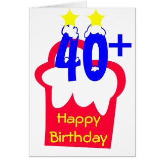 40+ Cumpleaños Tarjeta Pequeña