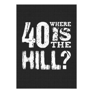 40 donde cumpleaños divertido BL01 de la colina Anuncio