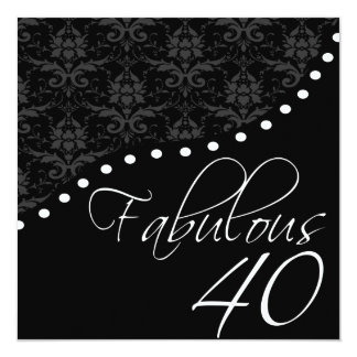 40 fabulosos personalizaron a la fiesta de invitación 13,3 cm x 13,3cm