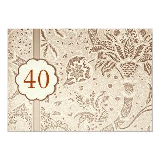 40 invitaciones del lujo del vintage del invitación 12,7 x 17,8 cm