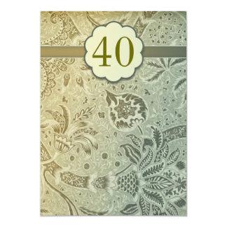 40 invitaciones del verde del vintage del invitación 12,7 x 17,8 cm