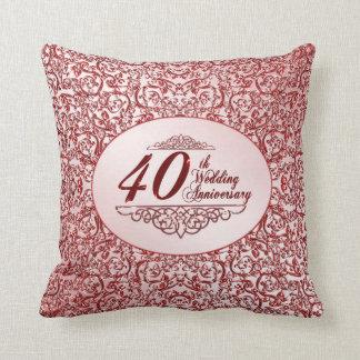 40.o Almohada de tiro del aniversario de boda