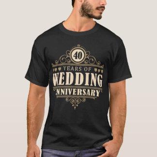 40.o Aniversario de boda (marido) Camiseta