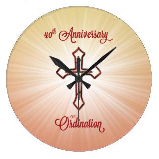 40.o Aniversario de la ordenación, regalo redondo, Reloj Redondo Grande