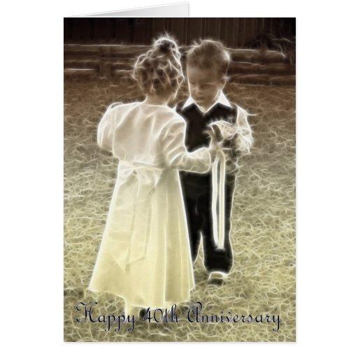 40.o Aniversario feliz del aniversario de boda Tarjeta