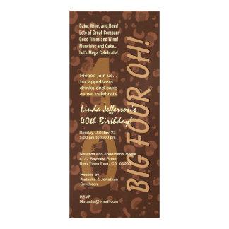 40 o Café moderno W366 alto del chocolate del cump Comunicados Personales