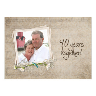 40.o Casa abierta del aniversario de boda Comunicado Personal