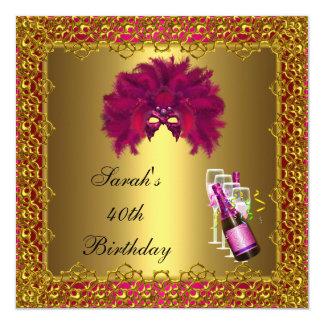 40.o Cordón rosado del oro de Champán de la Comunicados Personales