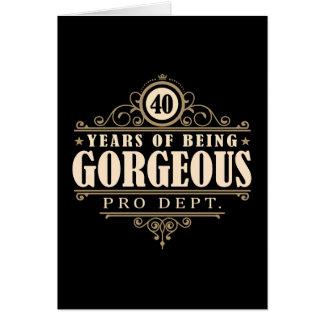 40.o Cumpleaños (40 años de ser magníficos) Tarjeta De Felicitación
