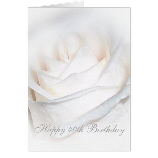40.o cumpleaños color de rosa tarjeta de felicitación