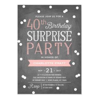40.o Cumpleaños de la invitación el | del fiesta