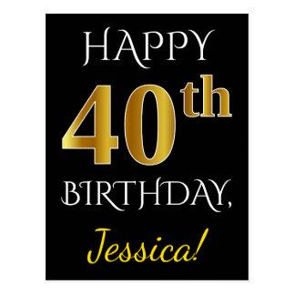 40.o cumpleaños del oro negro, falso + Nombre de Postal
