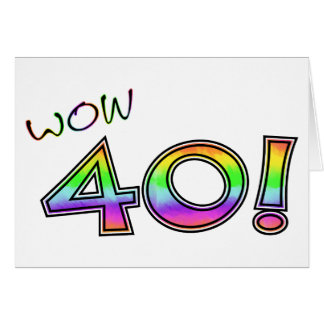 40.o CUMPLEAÑOS del wow Tarjeta De Felicitación