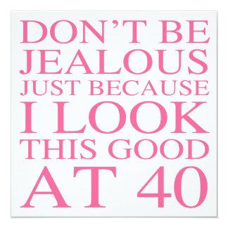 40.o cumpleaños descarado para las mujeres invitación 13,3 cm x 13,3cm