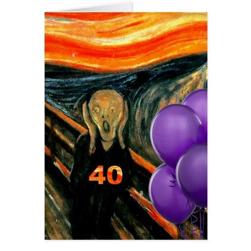 40.o cumpleaños divertido tarjetón