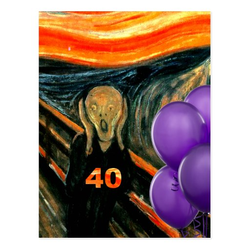 40.o cumpleaños divertido postal