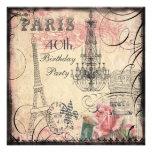 40.o cumpleaños elegante de la torre Eiffel y de Comunicado